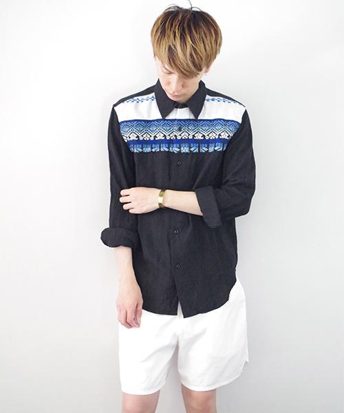 リネンシャツ3